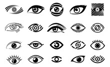 Eye Illustration, Logo Set, C...