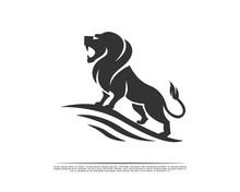 Stand High With Pride Roaring Lion Logo, Symbol, Design Illustration