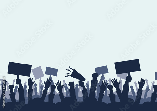 Fotografie, Obraz Hand drawing and protest Concepts of social problems It is a vector, icon