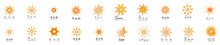 Abstract Sun Logo And Icon Set...