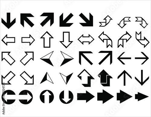 Cuadros en Lienzo vector of direction signs