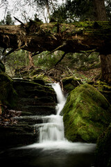 Small but beautiful waterfall hidden in the mountains of Pennsylvania