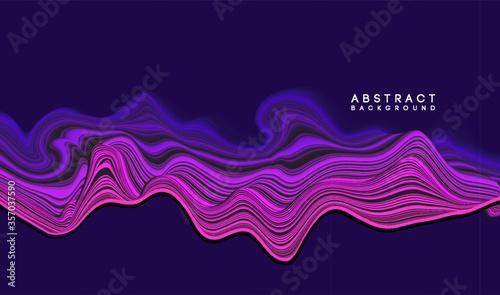 Fototapeta Vector Modern abstract design background Flow motion
