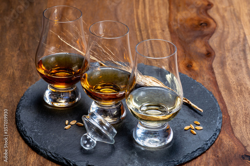 Scotch single malt and blended whisky tasting on distillery in Scotland Tablou Canvas
