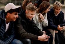 Smiling Teenage Girls And Boys...