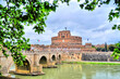 The Mausoleum of Hadrian, usually known as Castel Sant'Angelo  in Parco Adriano, Rome, Italy