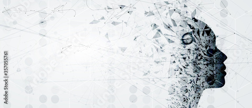 Fotografie, Obraz Conceptual technology illustration of artificial intelligence
