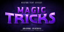 Magic Tricks Text, Magician Style Editable Text Effect