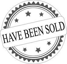 Sold Out Rubber Stamp Vector I...