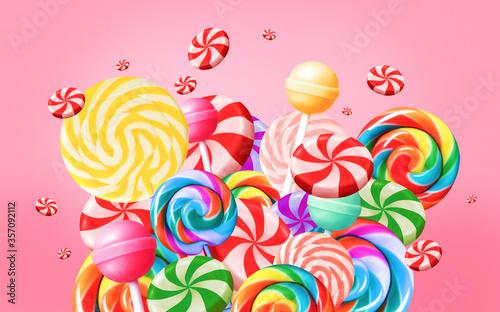 Photo Bright sweet food background