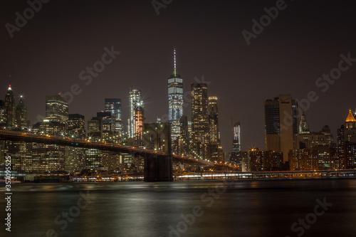 Fototapety, obrazy: brooklyn bridge and manhattan skyline