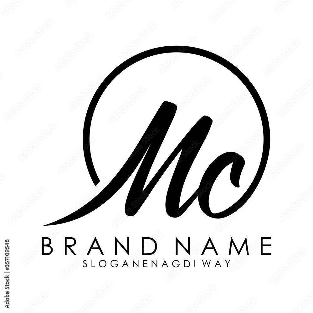 Fototapeta letter mc logo design concept vector