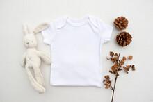 Blank White Half Baby Bodysuit...