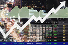 Stock Financial Index Show Suc...