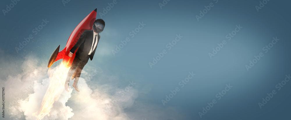 Fototapeta Business - Start up - Durchstarten