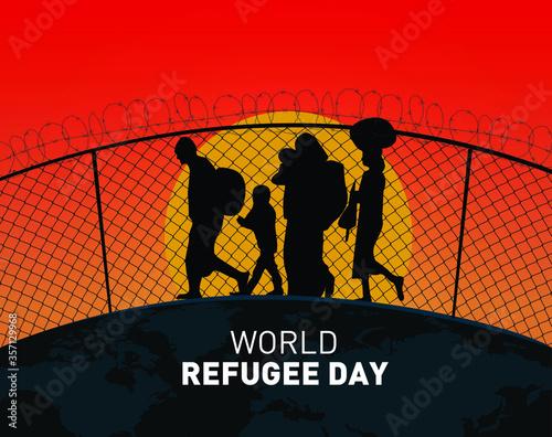 World Refugee day concept Vector Illustration Canvas Print