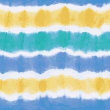 Colorful Tie Dye Stripes Seaml...