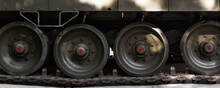 Tank Truck And Wheel Closeup. ...