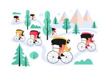 A Bicyclist-biker Overcomes Cr...