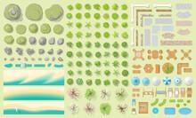 Set Of Park Elements. (top Vie...