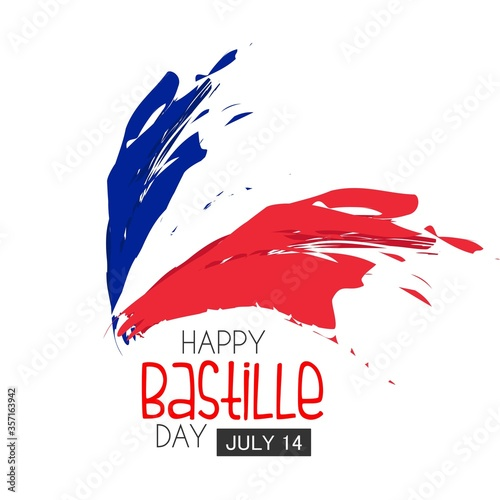 Bastille day. Vector background. Wallpaper Mural