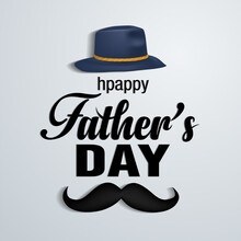 Happy Fathers Day Lettering Ba...