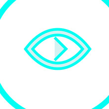 Vector Illustration Of A Blue Arrow
