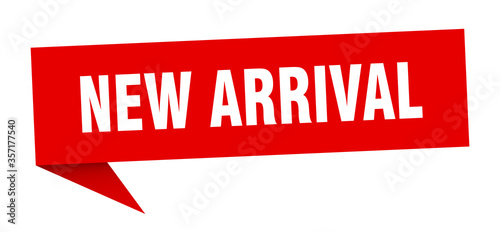 new arrival banner. new arrival speech bubble. new arrival sign Canvas Print