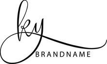 KY  Letter Initial Logo Design...