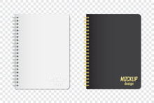 Mock Up Of Notebook In Two Col...