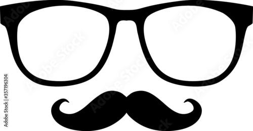 Photo Óculos e bigode isolados com fundo branco.