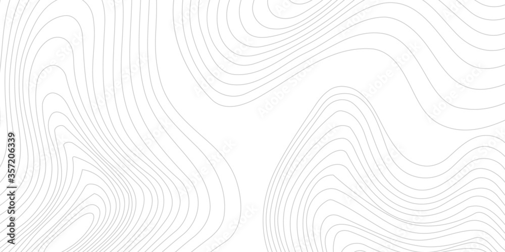 Fototapeta Gray topographic line contour map background, geographic grid map. Eps 10 vector illustration