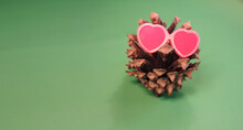Pine Cone In Decorative Vintag...