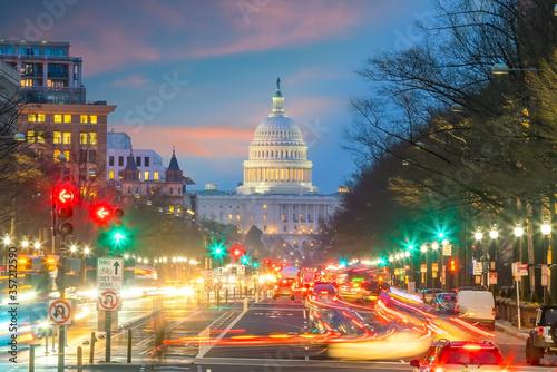 Fototapeta Washington DC downtown skyline  of USA obraz