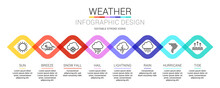 8 Colorful Weather Outline Ico...