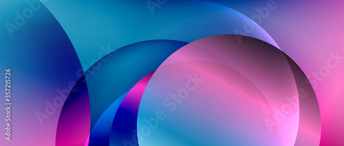 Circle modern geometric abstract background with liquid gradients Fototapet