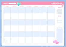 Monthly Planner Template. Prin...