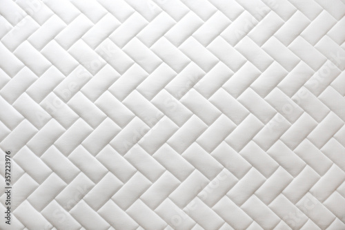Fotografija Close up shot of white orthopedic mattress top side surface pattern with a lot of copy space for text