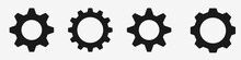 Gear Icon Set – Black Gear A...