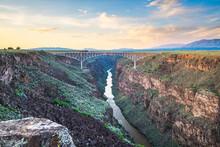 Taos, New Mexico, USA At Rio Grande Gorge Bridge Over The Rio Grande