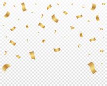 Falling Shiny Golden Confetti....
