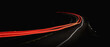canvas print picture - Car tail light long exposure