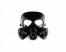 Apocalyptic Gas Mask Isolated On White Background