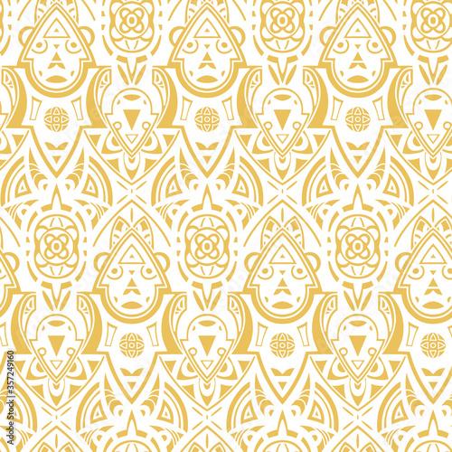 Vector seamless ethnic pattern Canvas-taulu