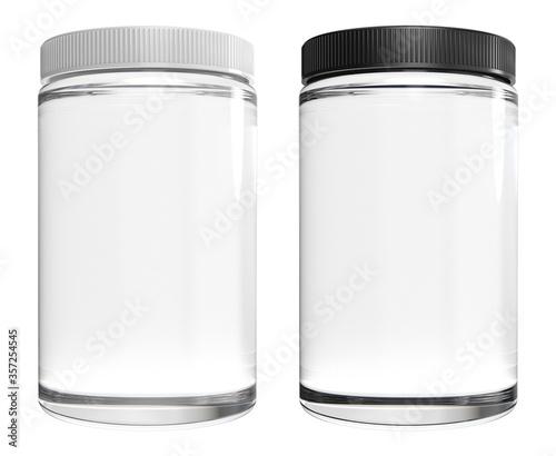 Cuadros en Lienzo glass jar isolated on white