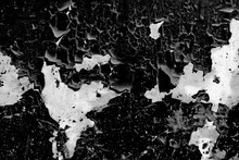 Black Peeled Surface With Whit...