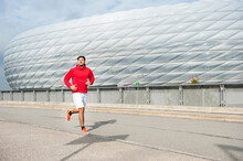 Young Man Running At Allianz A...