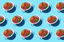Pattern Of Colanders With Colo...