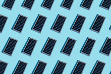 Rows Of Portable Solar Panel O...
