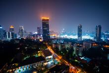 Thailand, Bangkok, Illuminated...